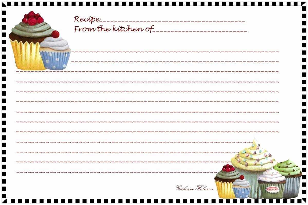 50 Fillable Recipe Card Template | Culturatti With Fillable Recipe Card Template