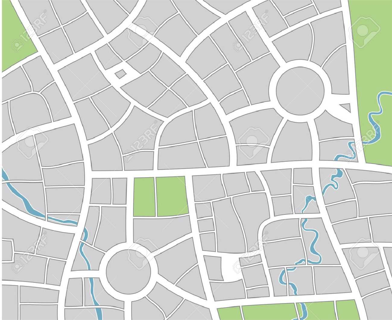 51 Thorough Blank Street Map Template Pertaining To Blank City Map Template