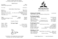 6 Awesome Seventh Day Adventist Church Bulletin Templates with Church Program Templates Word