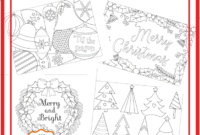 6 Unique Christmas Cards To Color Free Printable Download throughout Diy Christmas Card Templates