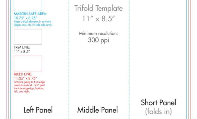 "8.5"" X 11"" Tri Fold Brochure Template - U.s. Press intended for 8.5 X11 Brochure Template"