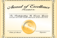 8+ Awards Certificate Template – Bookletemplate regarding Academic Award Certificate Template
