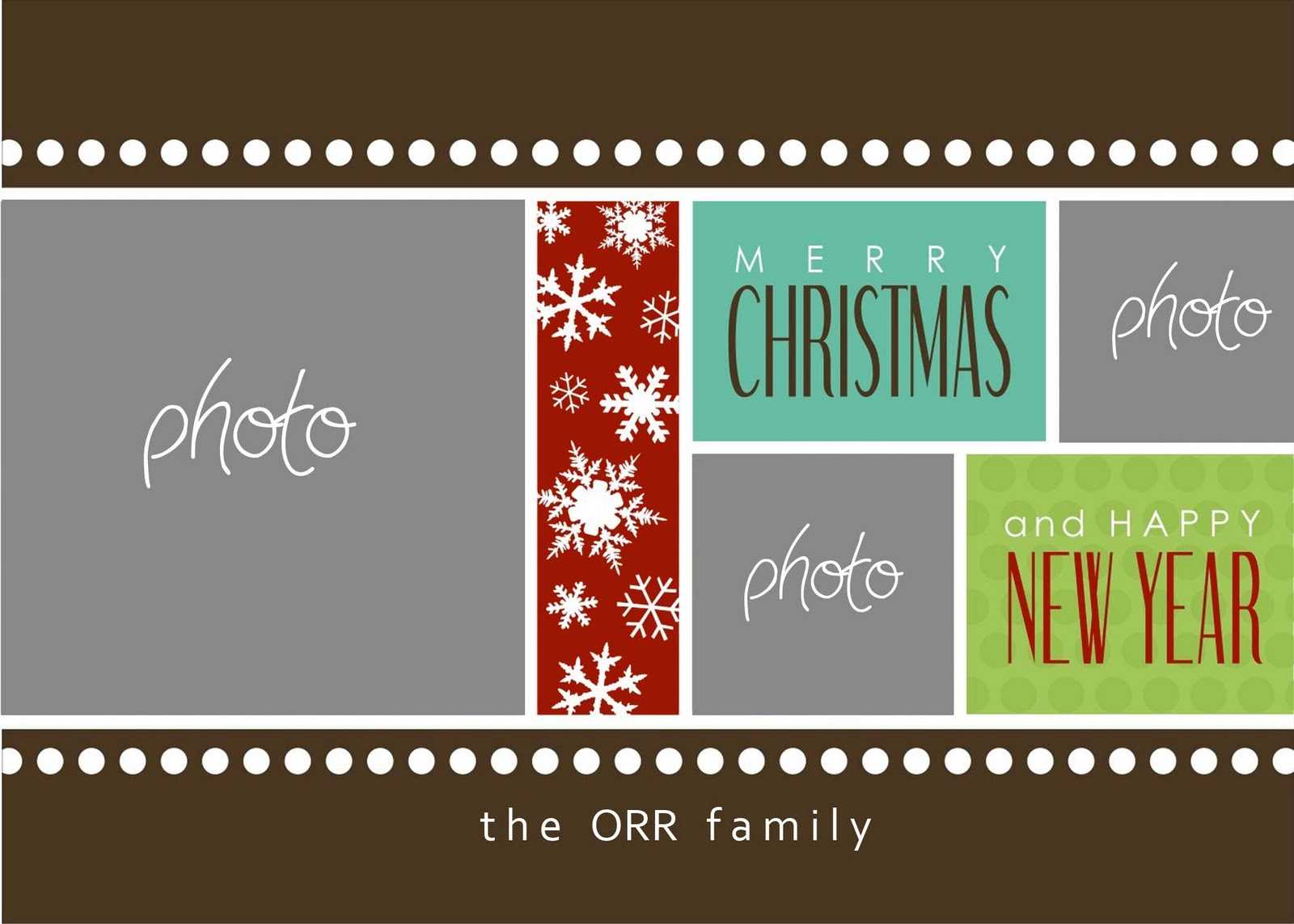 8 Free Photoshop Christmas Card Templates Images - Photoshop With Christmas Photo Card Templates Photoshop