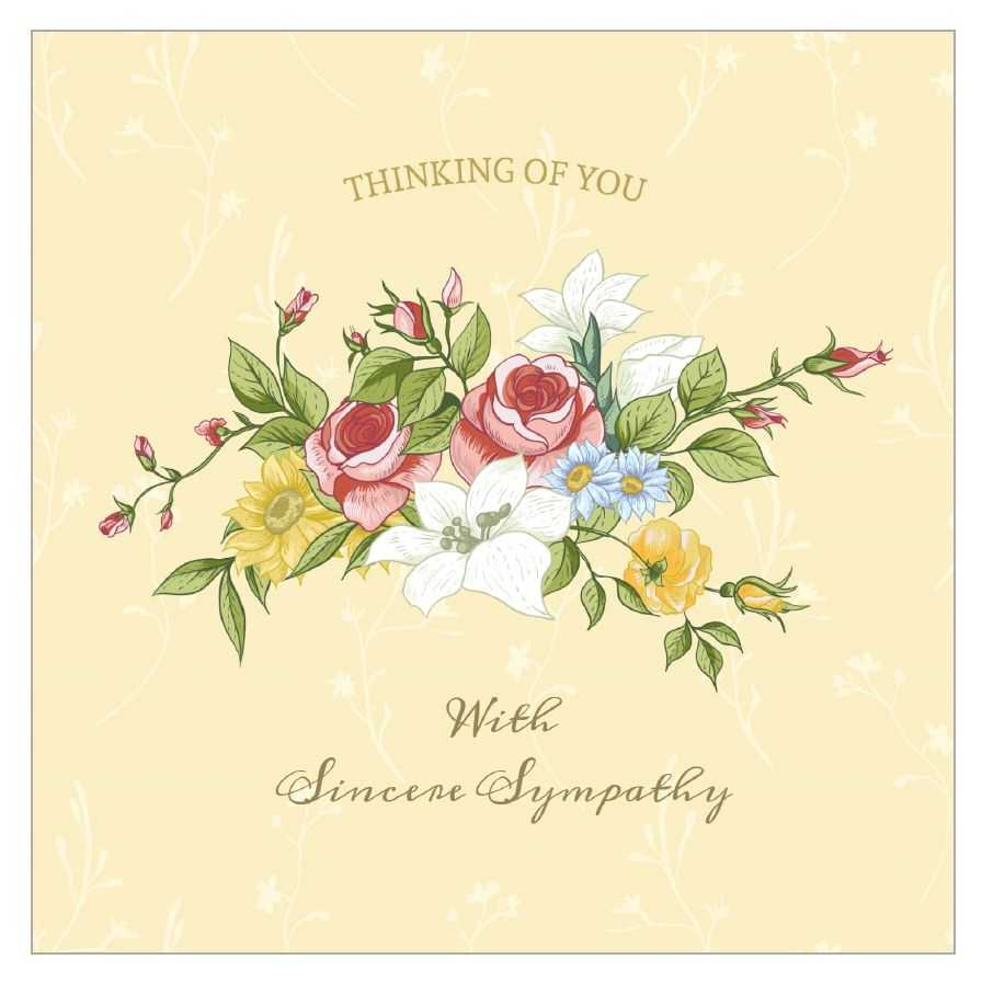 8 Free, Printable Condolence And Sympathy Cards Intended For Sorry For Your Loss Card Template