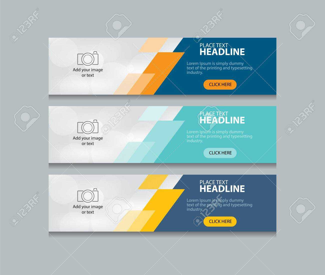 Abstract Web Banner Design Template Background With Website Banner Design Templates