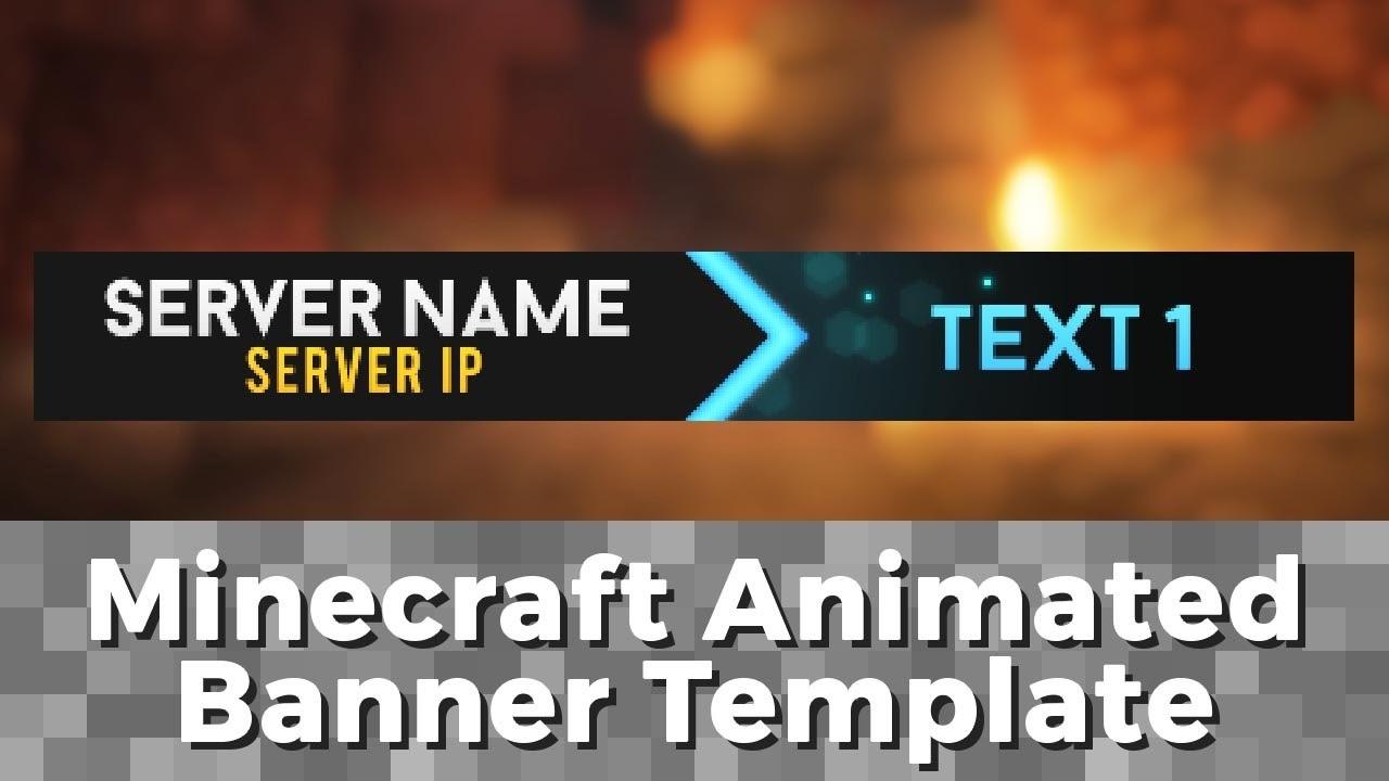 "Advanced .gif Minecraft Animated Banner Template – ""elegant Dazzle"" Within Animated Banner Template"