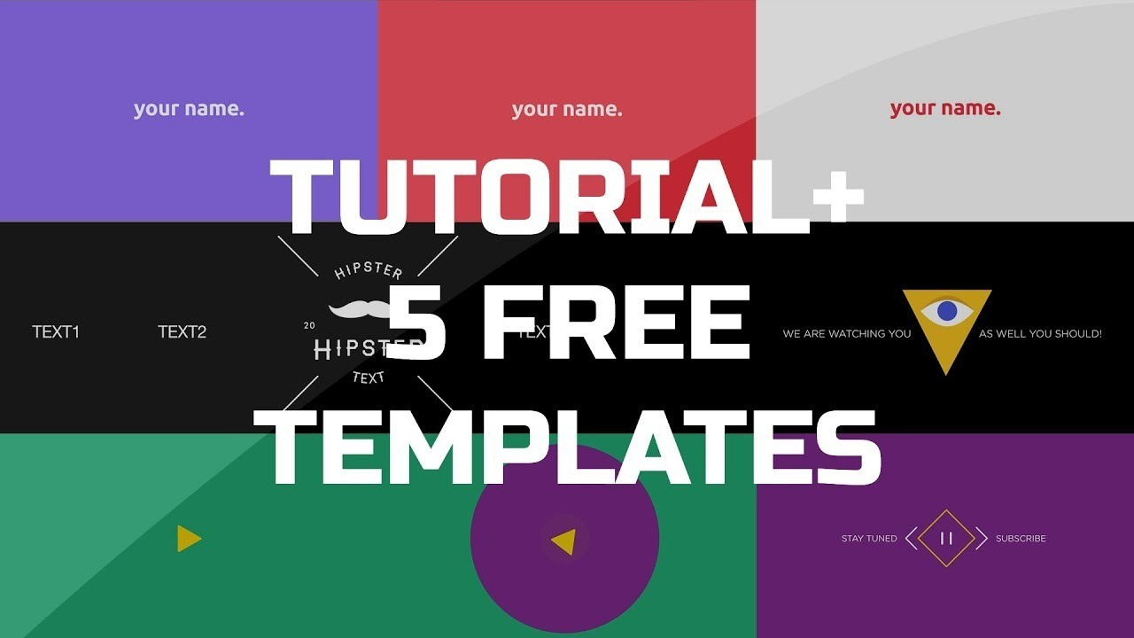 After Effects Tutorial – .gif Animated Banner & 5 Free Templates With Regard To Animated Banner Template