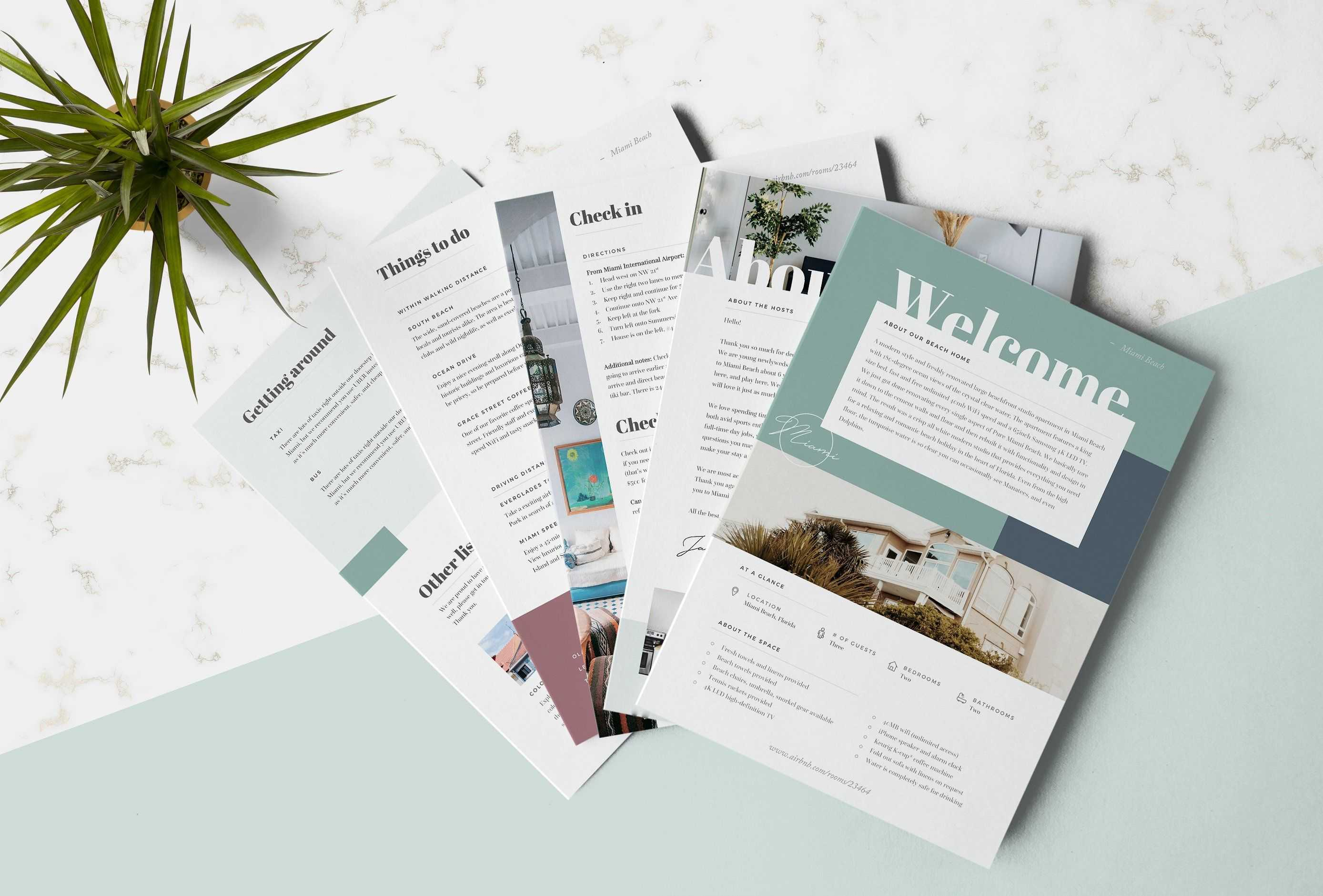Airbnb Welcome Book Template #basic#recommend#microsoft With Regard To Welcome Brochure Template