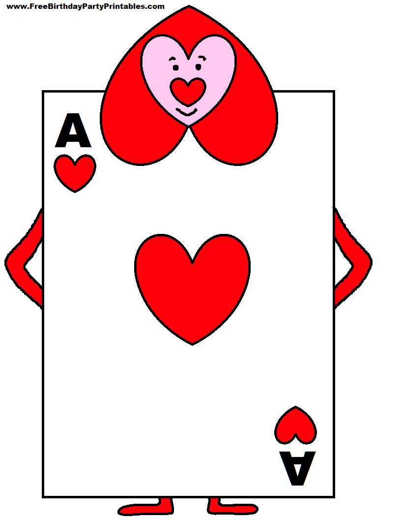 Alice In Wonderland Card Soldiers Printable Cutout   Party Regarding Alice In Wonderland Card Soldiers Template