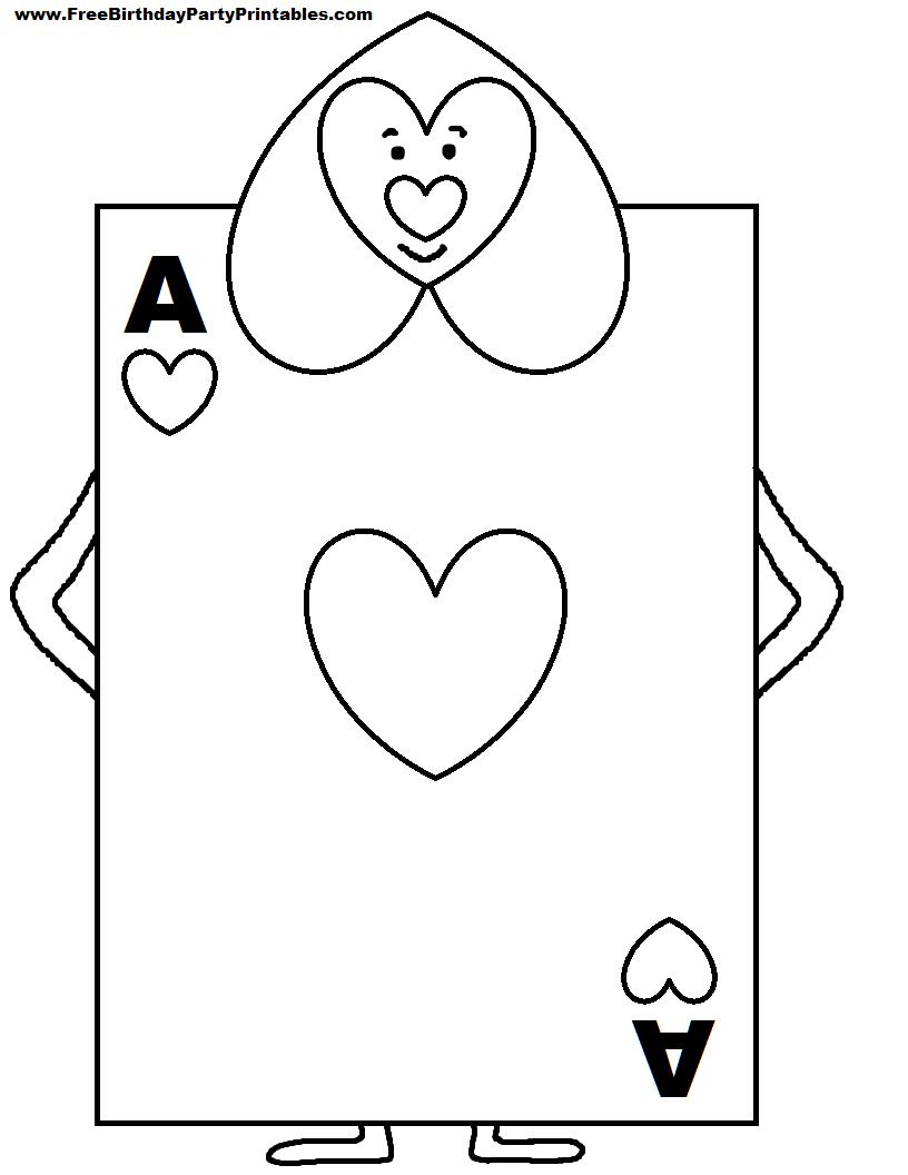 Alice In Wonderland Card Soldiers Printable Cutout   Picture For Alice In Wonderland Card Soldiers Template