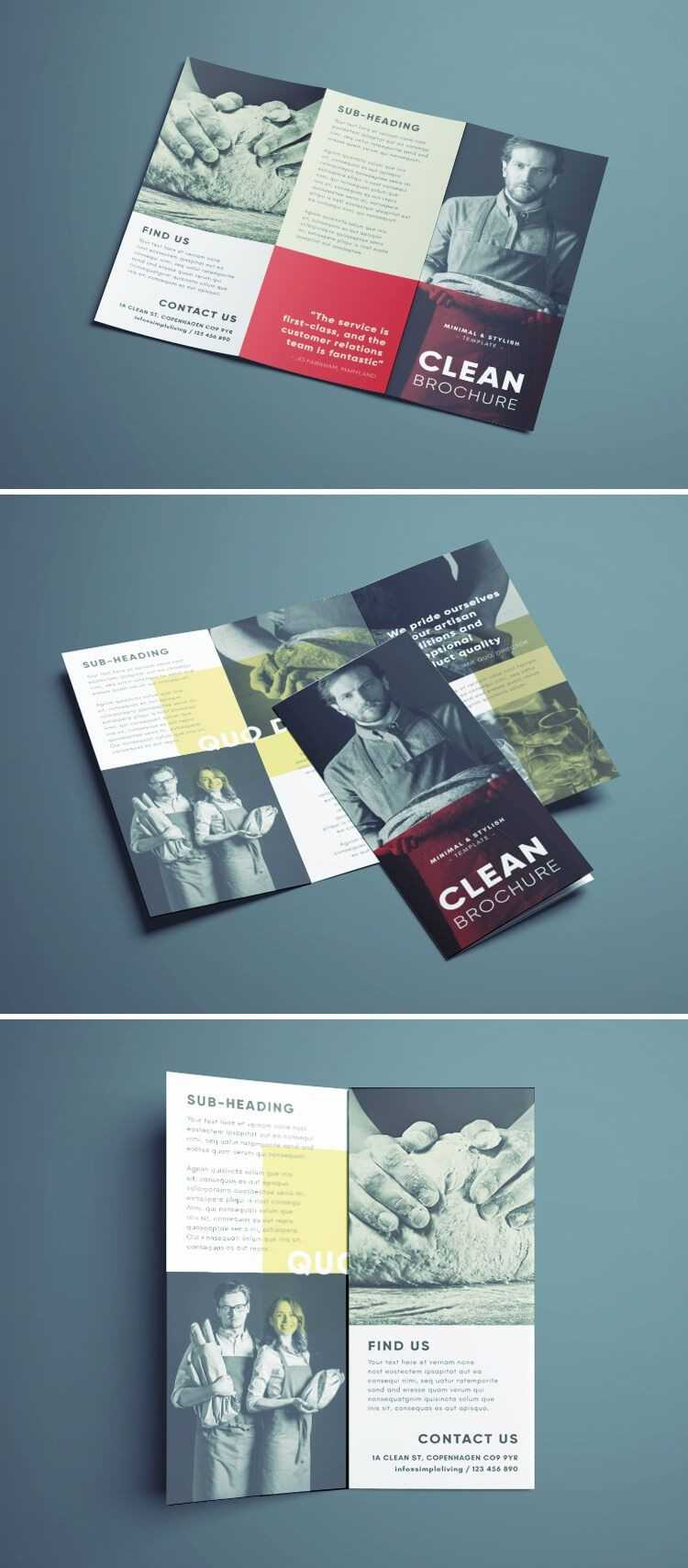 Amazing Clean Trifold Brochure Template | Design. | Brochure With Regard To Cleaning Brochure Templates Free