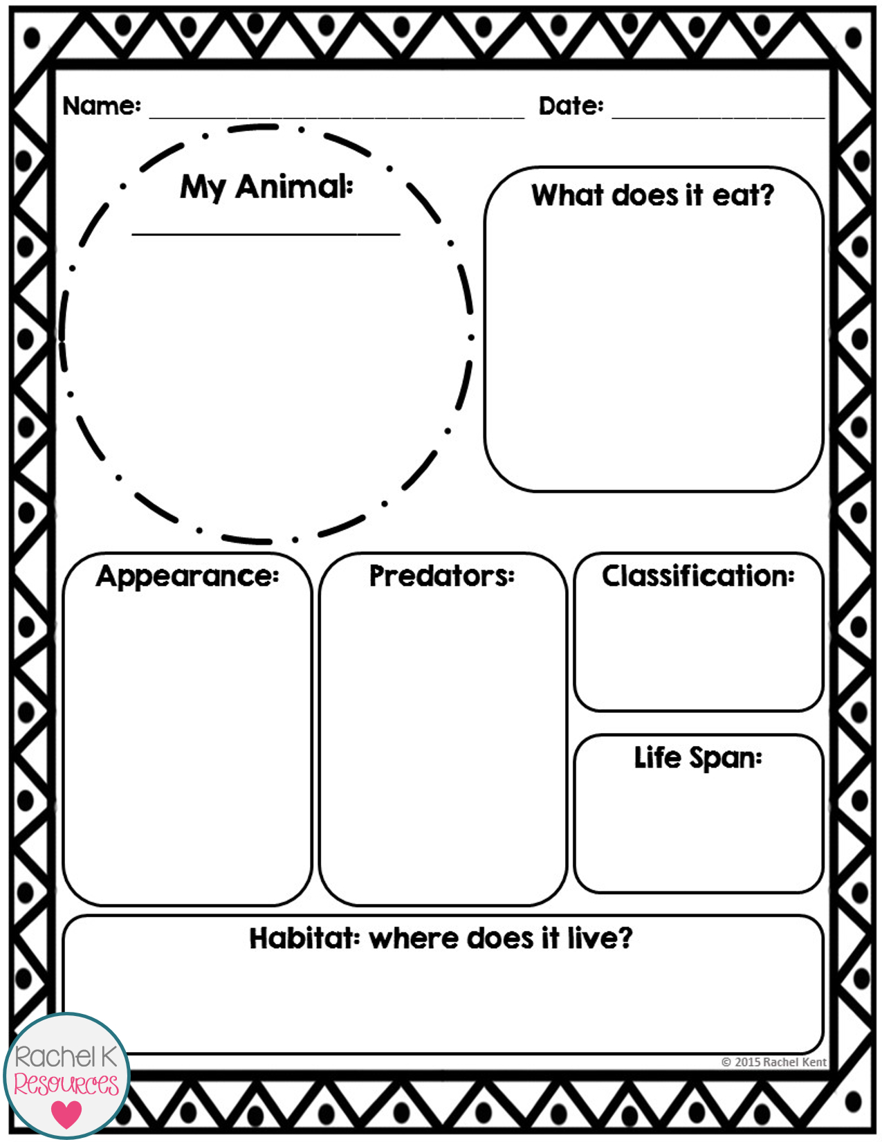 Animal Report Template | Science | Report Template Inside Template For Information Report