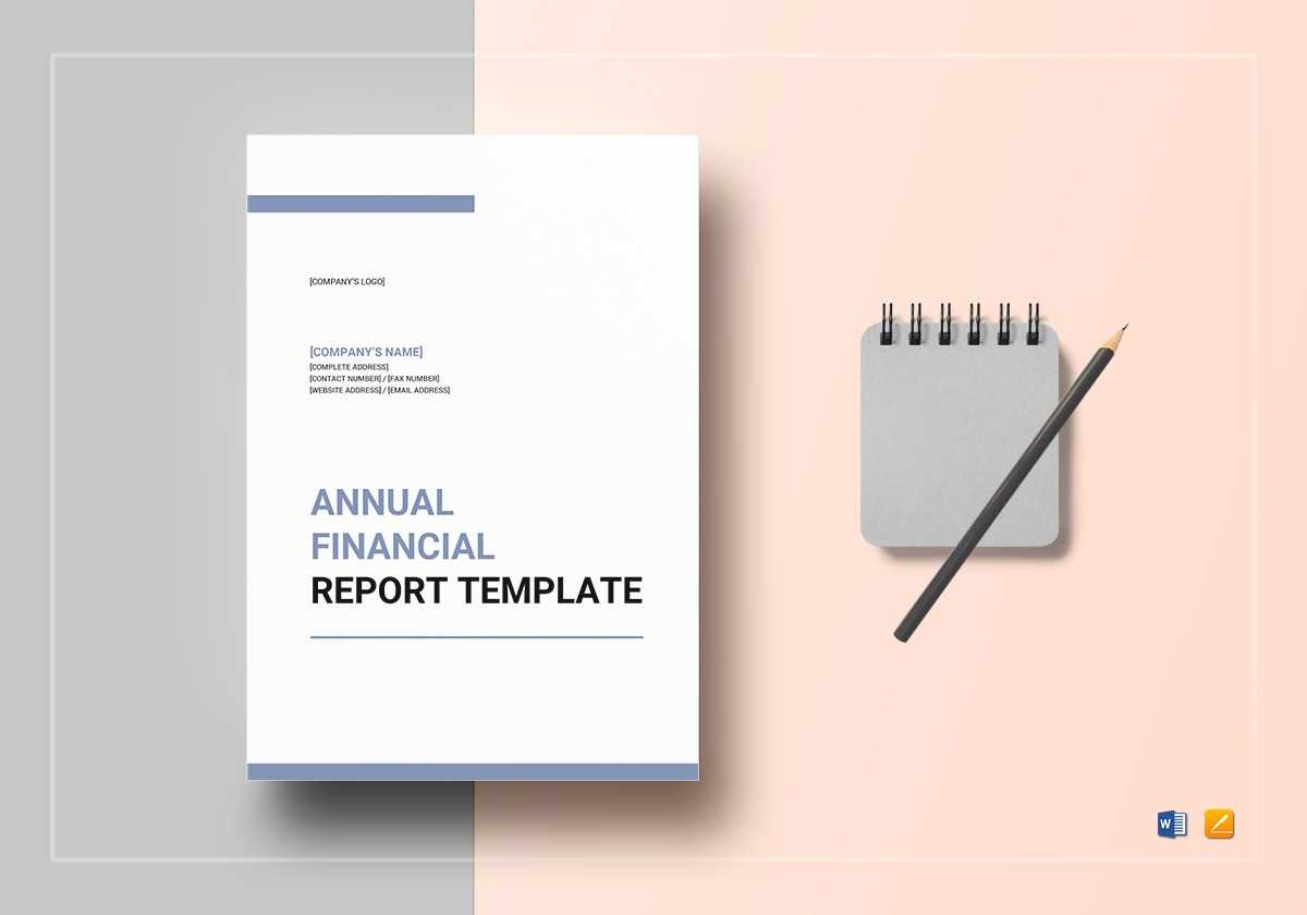 Annual Financial Report Template In Annual Financial Report Template Word