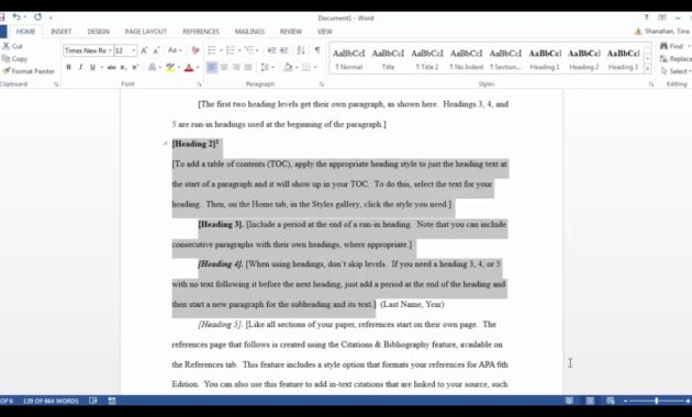 Apa Template In Microsoft Word 2016 intended for Word Apa Template 6Th Edition