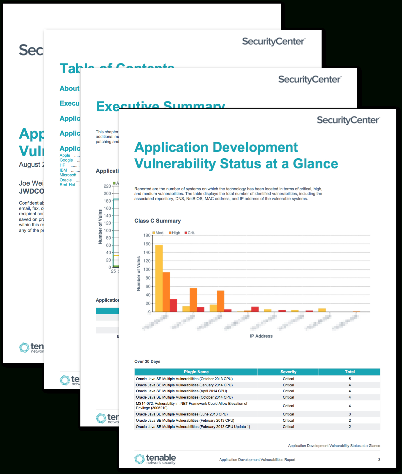 Application Development Summary Report – Sc Report Template For Nessus Report Templates