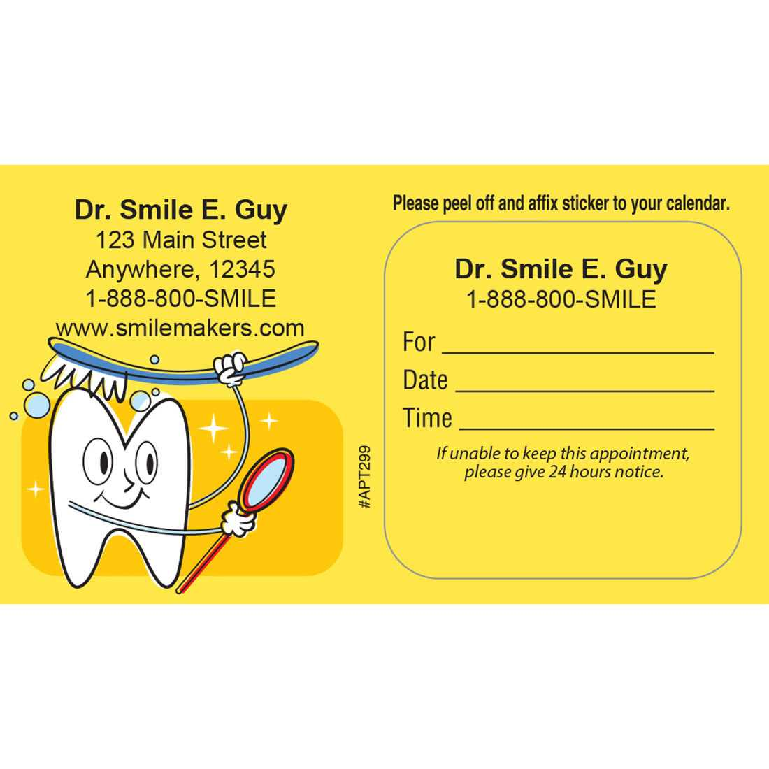 Appointment Cards – Marketing Your Practice For Dentist Appointment Card Template
