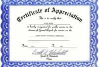 Appreciation Certificate Templates Free Download pertaining to Certificate For Years Of Service Template