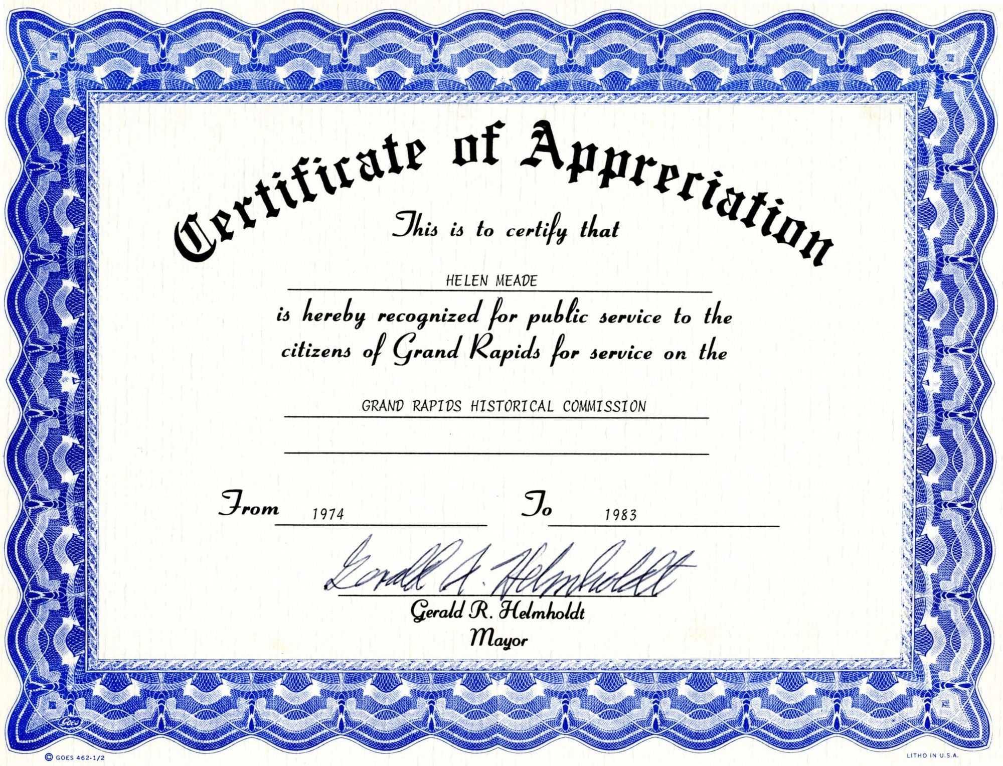 Appreciation Certificate Templates Free Download Regarding Blank Certificate Templates Free Download