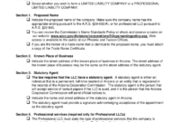 Arizona Articles Of Organization – Fill Online, Printable pertaining to Llc Annual Report Template