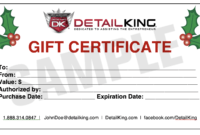 Auto Detailing Gift Certificate Template | Arts – Arts in Automotive Gift Certificate Template