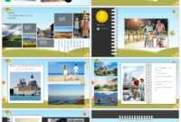 Awesome Cartoon Landscape Travel Record Electronic Photo within Powerpoint Photo Album Template