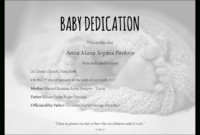 Baby Dedication Certificate Template For Word [Free inside Baby Dedication Certificate Template