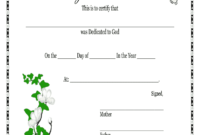 Baby Dedication Certificates Printable – Fill Online for Baby Christening Certificate Template
