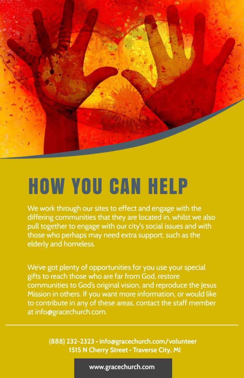 Be A Volunteer Church Flyer Template for Volunteer Brochure Template