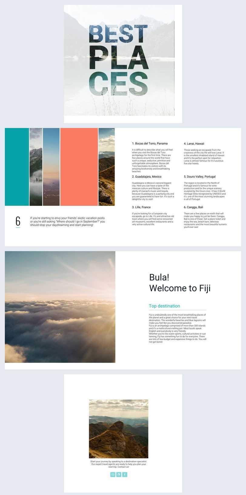Beautiful Travel Guide Brochure Template - Flipsnack With Regard To Travel Guide Brochure Template