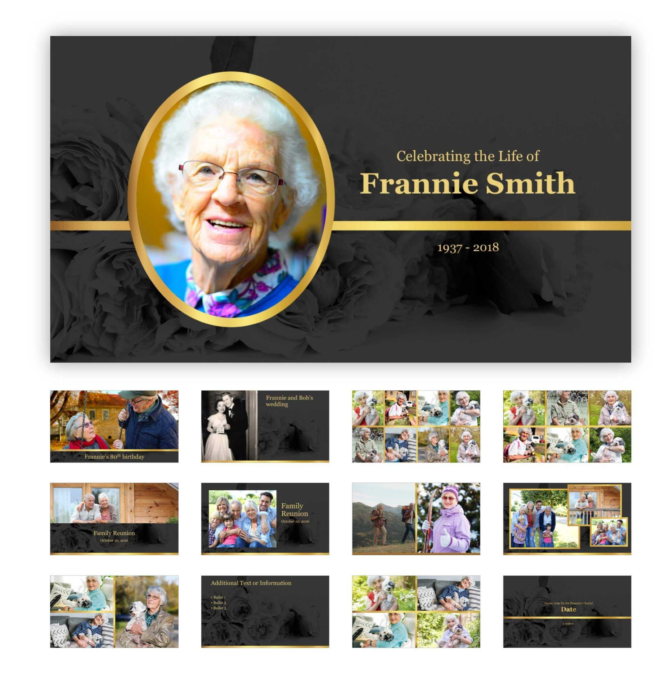 Best Funeral Powerpoint Templates Of 2019 | Adrienne Johnston With Funeral Powerpoint Templates