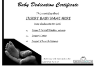 Best Photos Of Baby Certificate Template – Free Printable for Baby Dedication Certificate Template