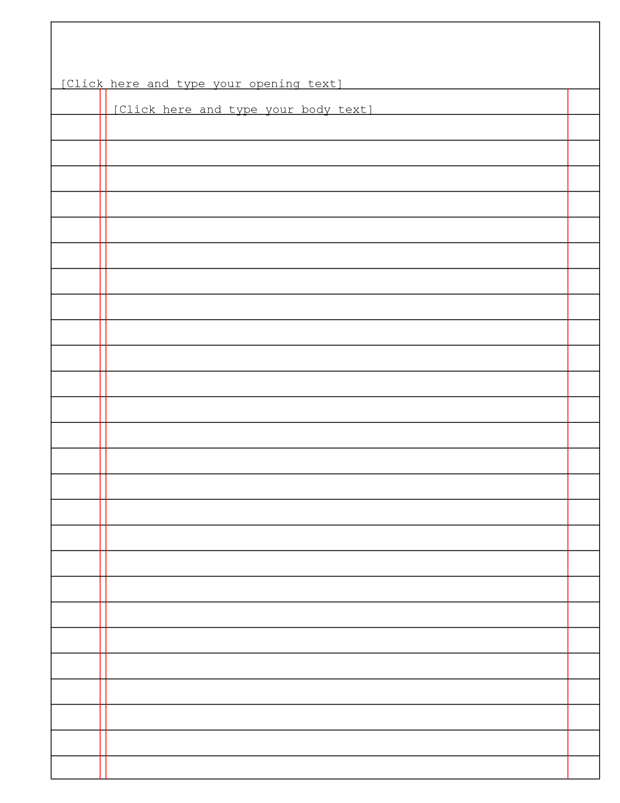 Best Photos Of Lined Paper Template Microsoft Word – Free Within Microsoft Word Lined Paper Template