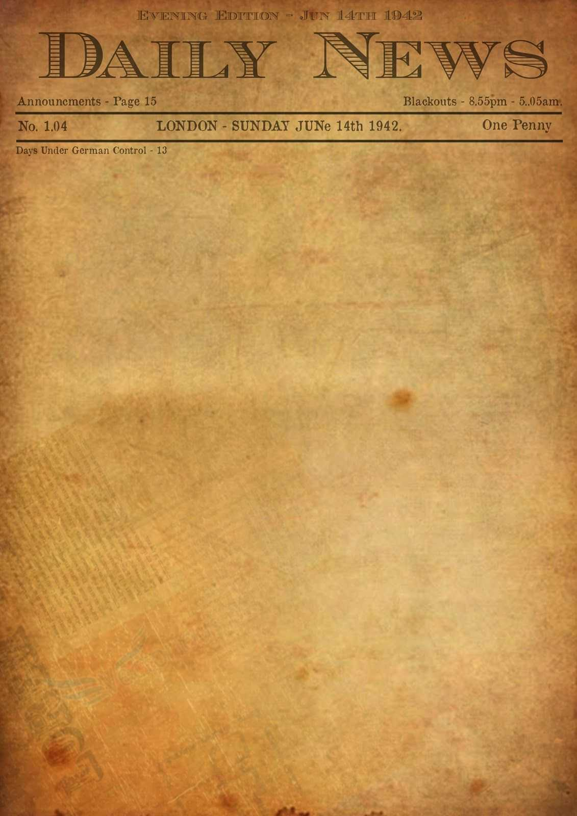 Best Photos Of Old Newspaper Template – Editable Old With Old Blank Newspaper Template