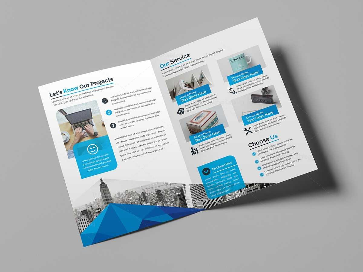 Bi Fold Brochure Template Bifold Psd Free Download Canva A4 Within Illustrator Brochure Templates Free Download