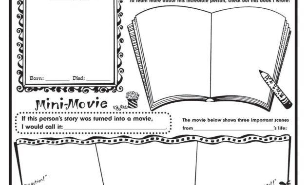 Biography Book Report Template    Biography Report inside Biography Book Report Template