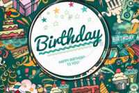 Birthday Background Collage Photo Frame Card Stock Vector Intended For Birthday Card Collage Template