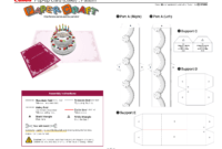 Birthday Cake Pop-Up Card Template | Pop Up Card Templates intended for Happy Birthday Pop Up Card Free Template