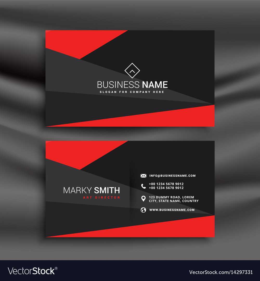 Black And Red Business Card Template With Intended For Buisness Card Template