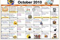 Blank Activity Calendar Template New Activity Calendar in Blank Activity Calendar Template