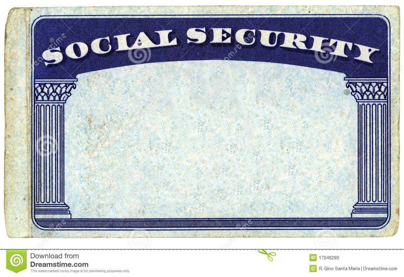 Blank American Social Security Card Stock Photo - Image Of Throughout Blank Social Security Card Template