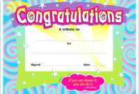Blank Award Certificate For Kids – Para Sys for Certificate Of Achievement Template For Kids