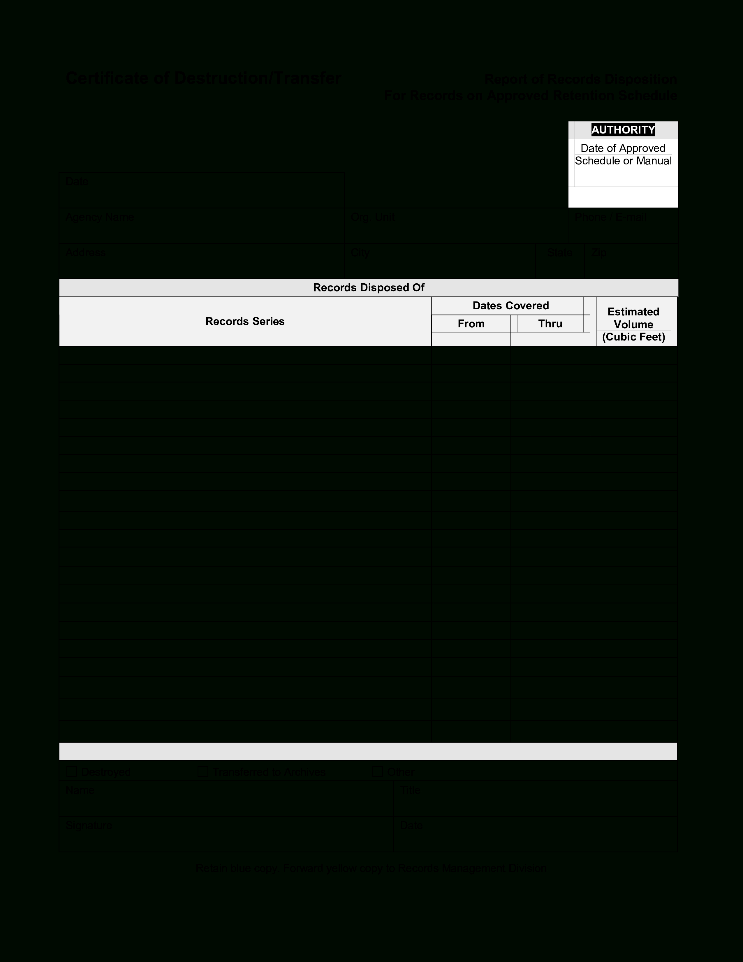 Blank Certificate Of Destruction - How To Create A Pertaining To Certificate Of Destruction Template