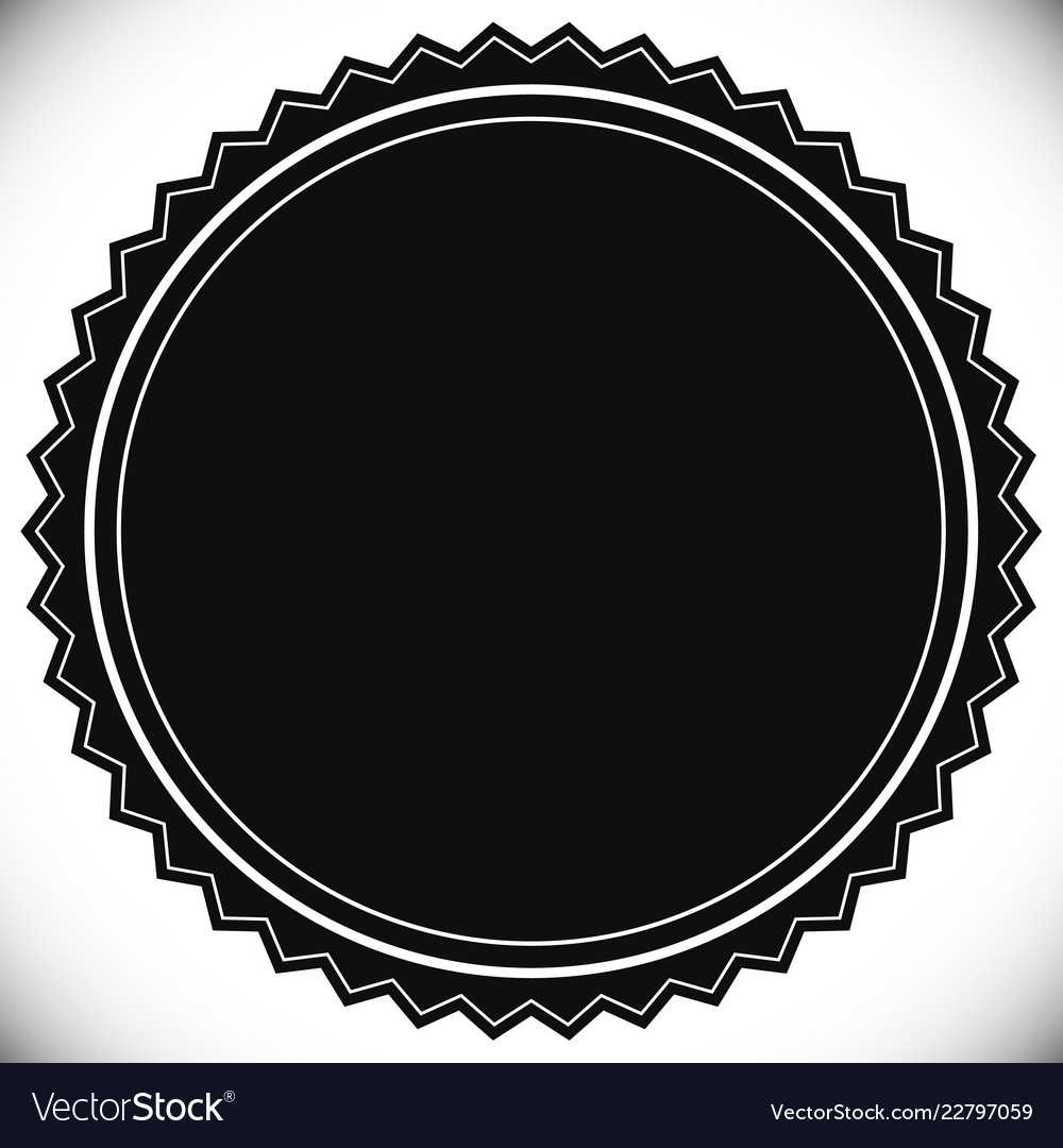 Blank Empty Stamp Seal Or Badge Template With Regard To Blank Seal Template