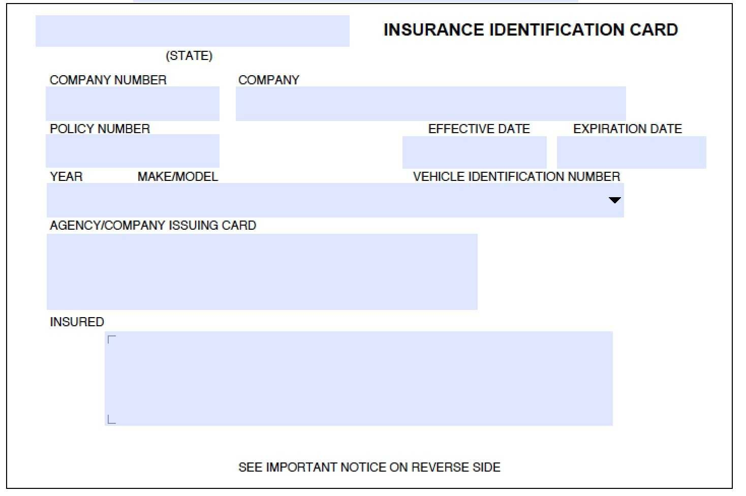 Blank Geico Insurance Card Template Why You Should Not Go With Car Insurance Card Template Download