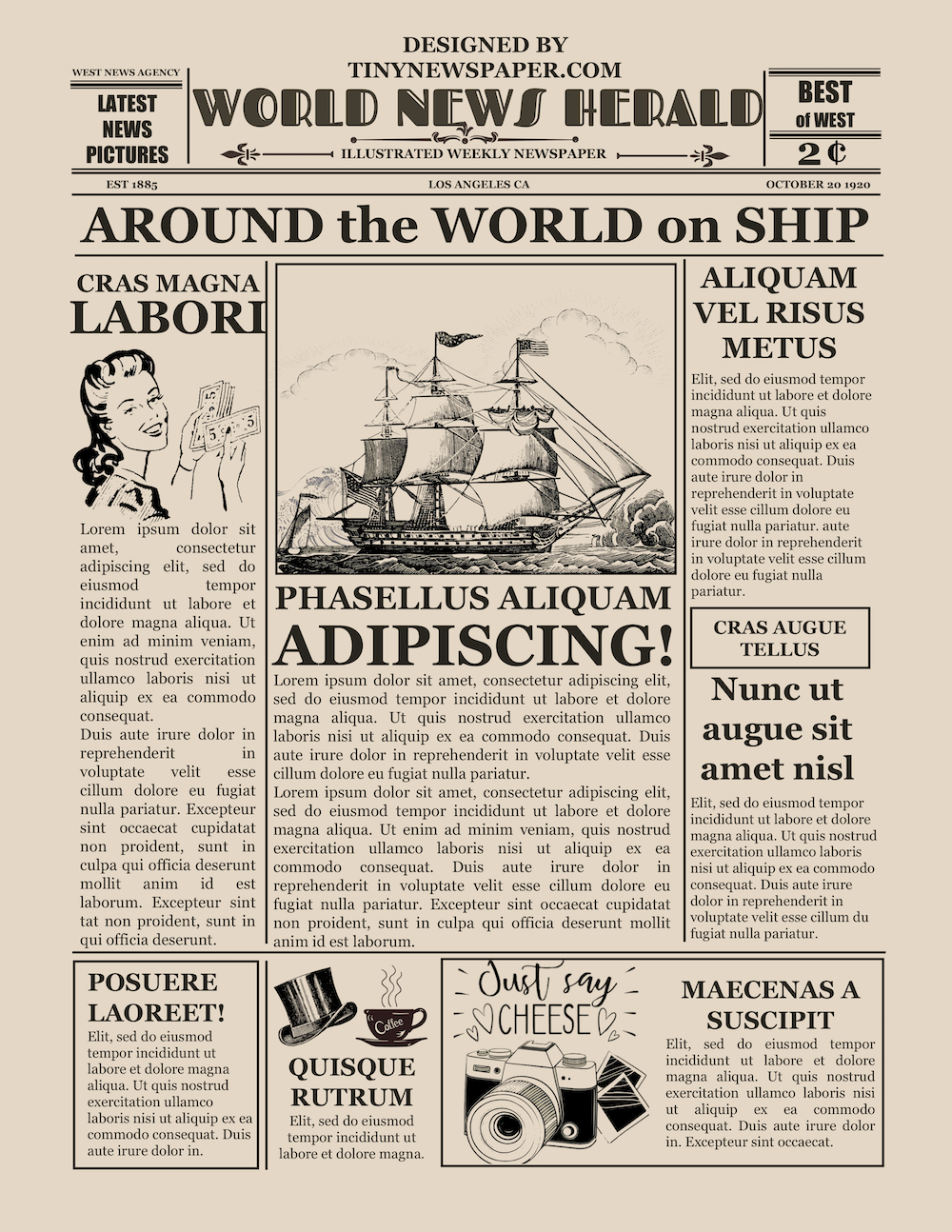 Blank Old Newspaper Template For Old Blank Newspaper Template