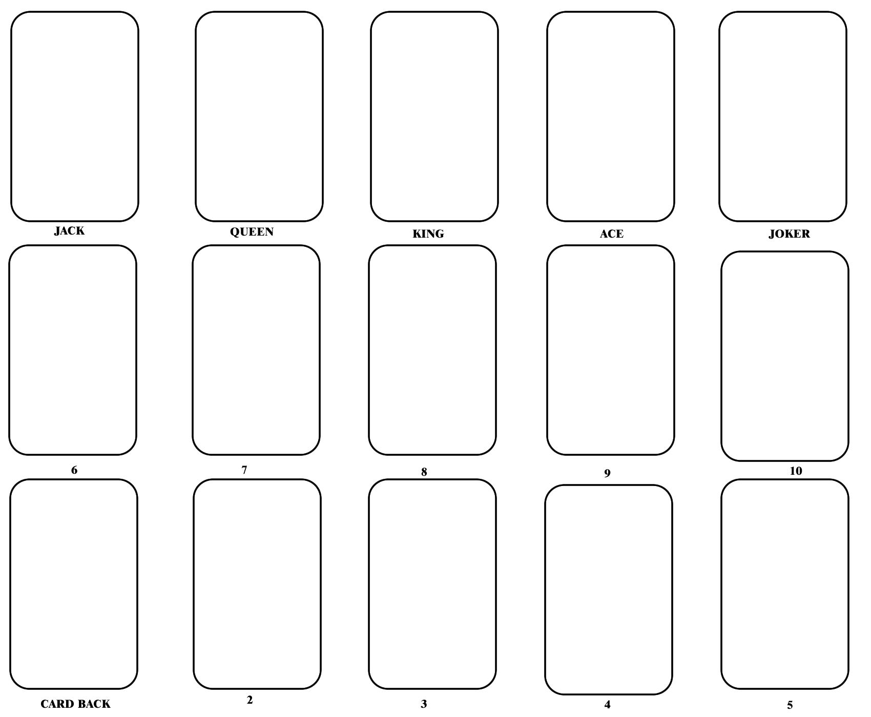Blank Playing Card Template | One Day | Blank Playing Cards Throughout Template For Playing Cards Printable