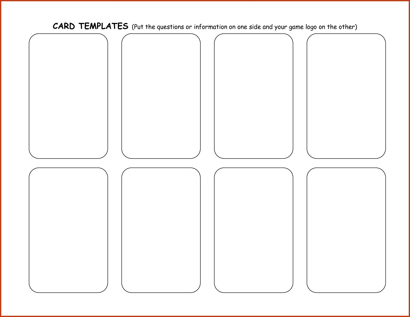 Blank Playing Card Template | Theveliger Throughout Blank Playing Card Template