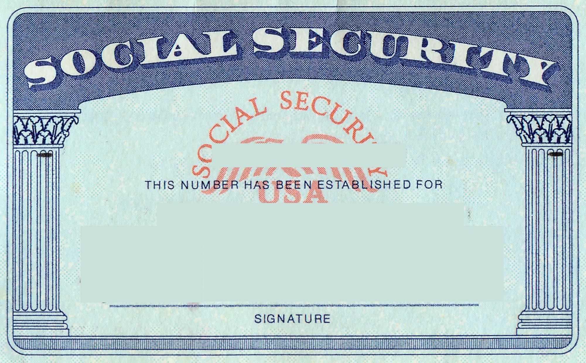 Blank Social Security Card Template | Social Security Card Intended For Ssn Card Template