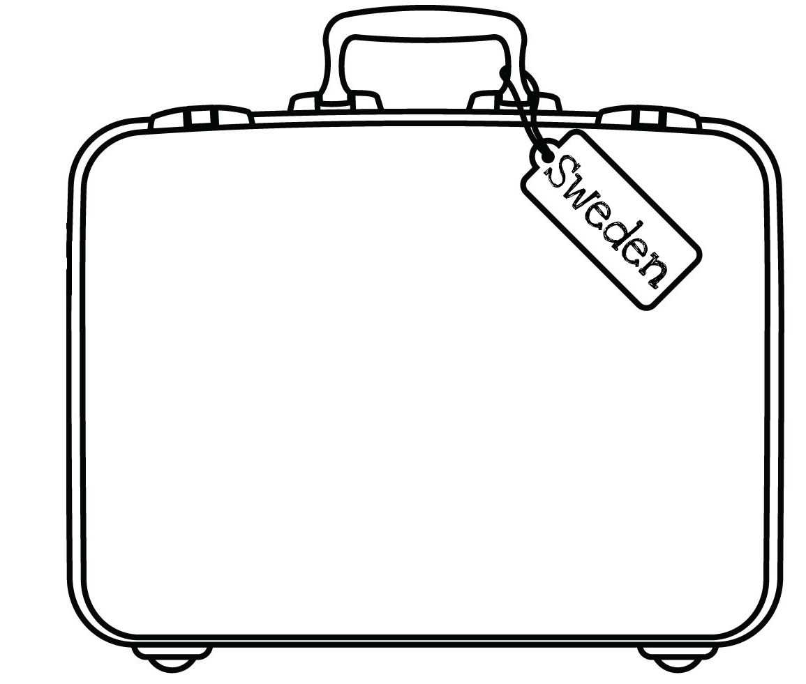 Blank Suitcase Template - Atlantaauctionco For Blank Suitcase Template