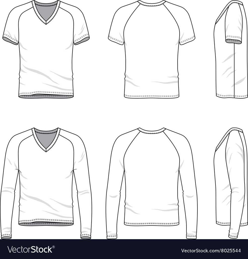 Blank V Neck T Shirt And Tee Throughout Blank V Neck T Shirt Template